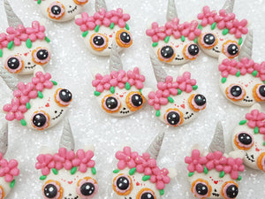 Handmade Flat Back Clay Embellishment New candy skull
