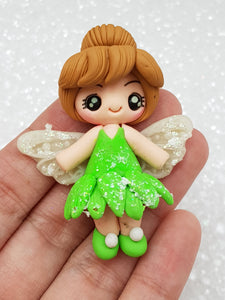 Handmade Flat Back Clay Embellishment shimmer fairy