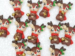 Clay Charm Embellishment new jingle reindeer SA - Crafty Mood