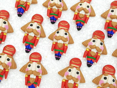 Handmade Flat Back Clay Embellishment new christmas nutcraker - Crafty Mood
