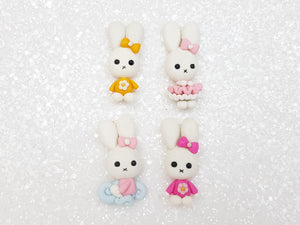 Clay Charm Embellishment new cute bunny - Crafty Mood