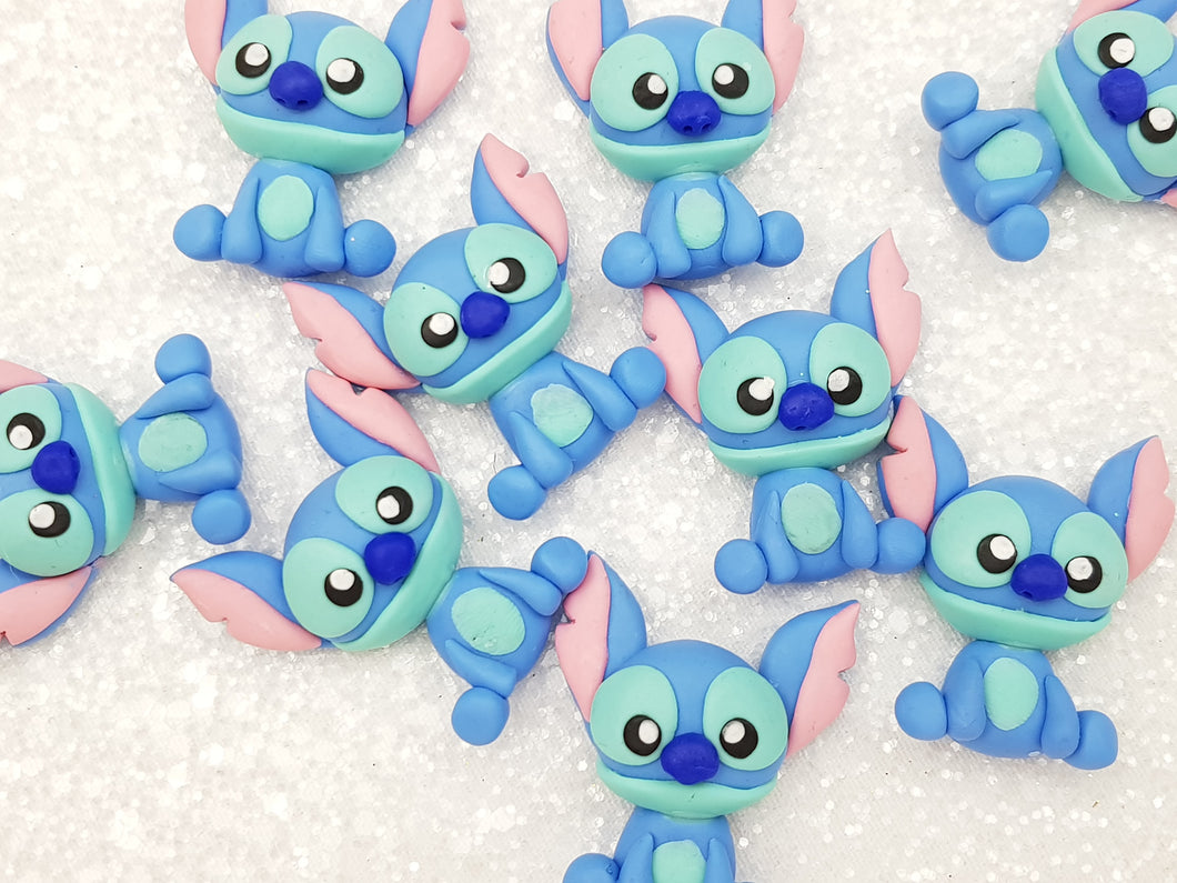 Clay Charm Embellishment - New Blue Monster - Crafty Mood