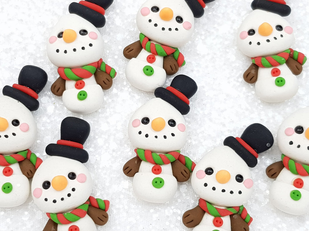 Clay Charm Embellishment - New Snowman Top Hat - Crafty Mood