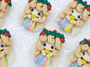 Clay Charm Embellishment new rainbow angel C SH - Crafty Mood
