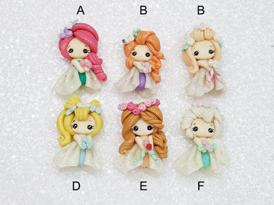Clay Charm Embellishment New dramatic winter princess SH - Crafty Mood
