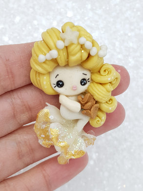 Clay Embellishment Christmas mermaid B - Crafty Mood