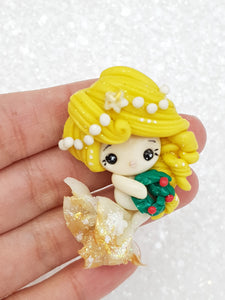 Clay Embellishment Christmas mermaid - Crafty Mood