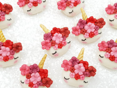 Flat Back Clay Embellishment NEW sleepy unicorn autumn E - Crafty Mood