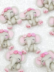 Clay Charm Embellishment new elephant B SH - Crafty Mood