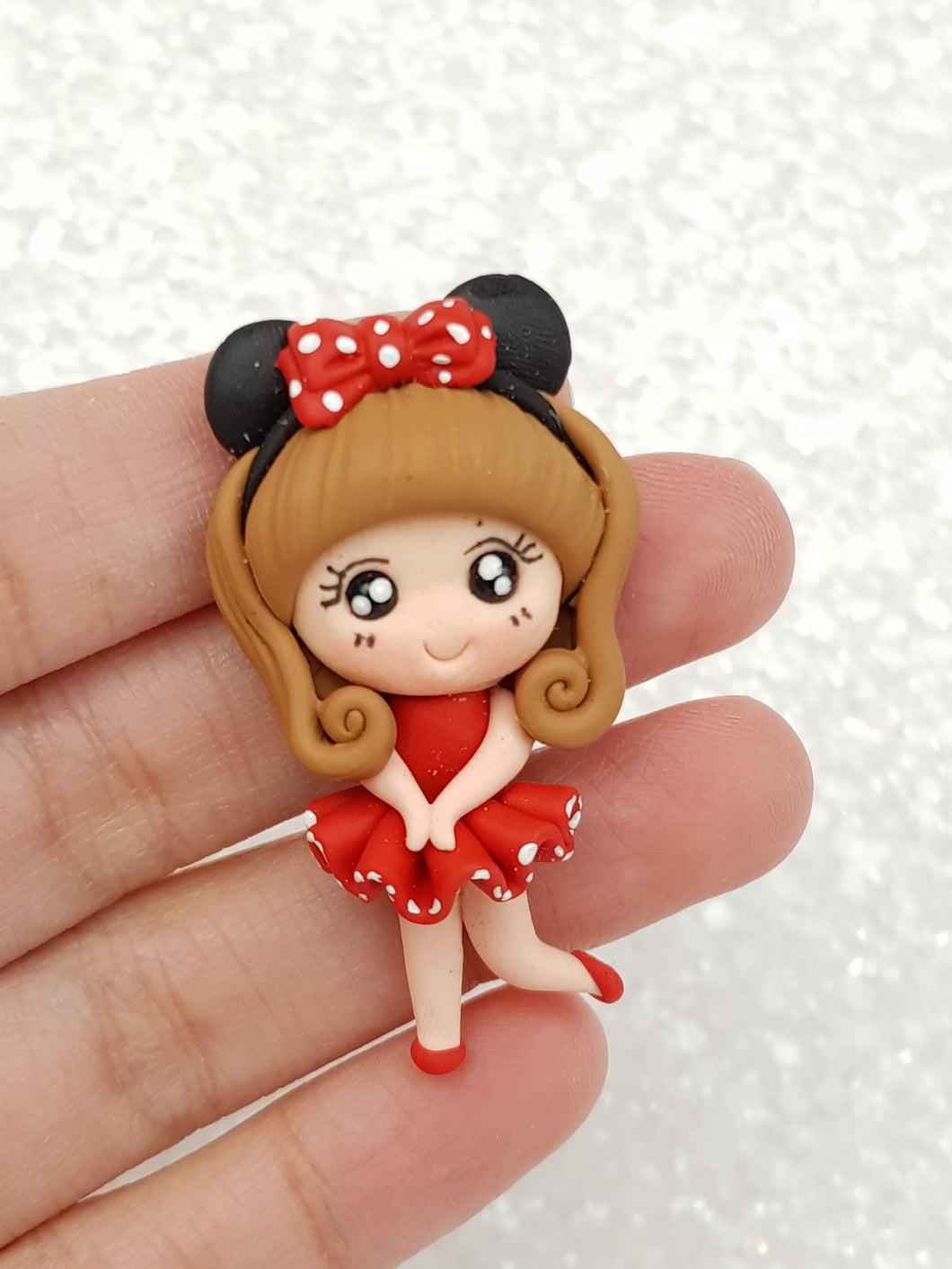 Clay Charm Embellishment - NEW MOUSE GIRL C - Crafty Mood