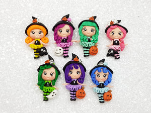 Clay Charm Embellishment - New Witch