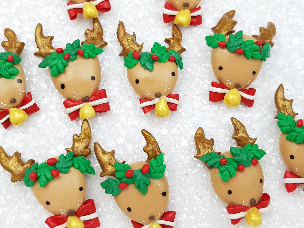 Clay Charm Embellishment - New Reindeer Head - Crafty Mood