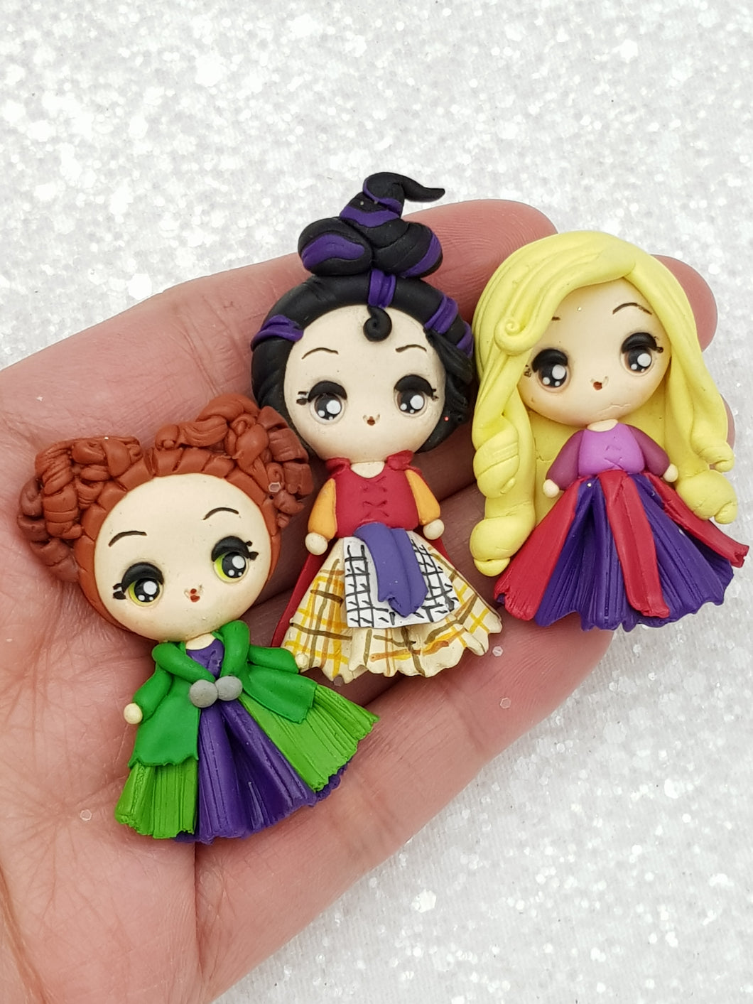 Clay Charm Embellishment New witch - Crafty Mood