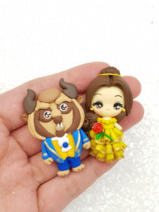 Clay Charm Embellishment - Bel Big Eyes approx. 4cm - Crafty Mood