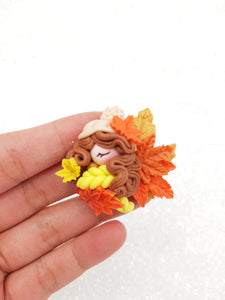 Clay Embellishment NEW autumn cameo - Crafty Mood