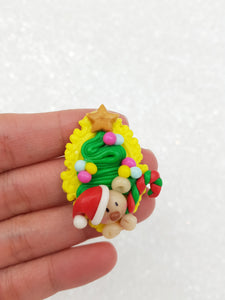 Flat Back Clay Embellishment NEW christmas cameo - Crafty Mood
