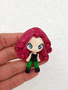 Clay Charm Embellishment - NEW Villain Ivy - Crafty Mood