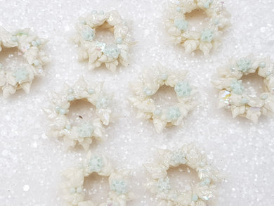 Clay Embellishment NEW wreath - ice SH