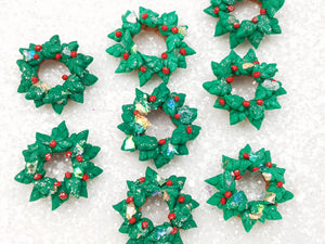 Clay Embellishment NEW wreath - green SH