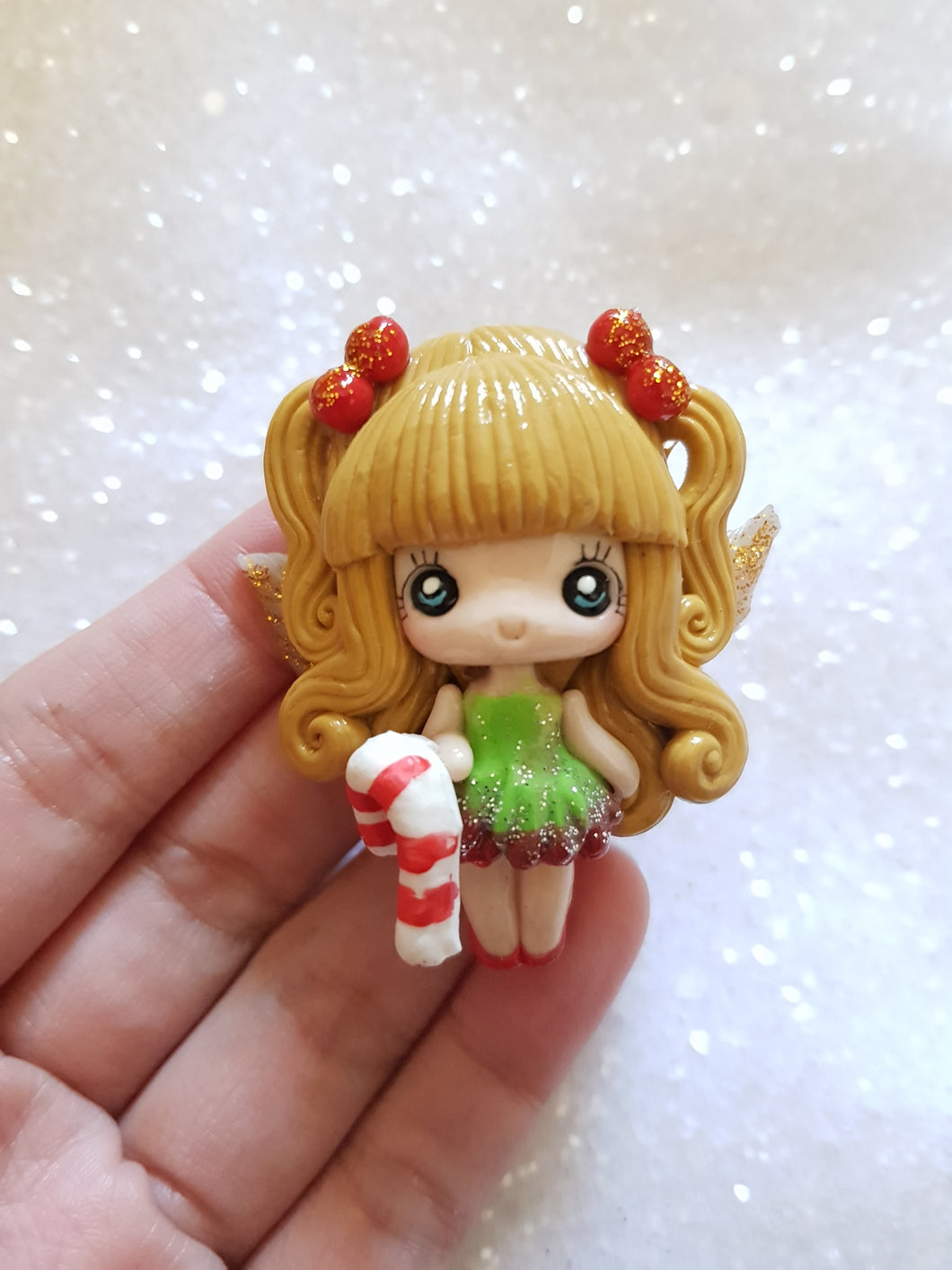 Clay Charm Embellishment - NEW LUXE Christmas Girl B - Crafty Mood