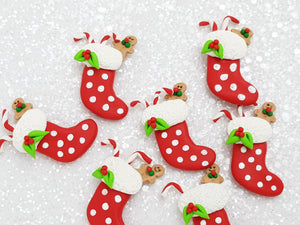 Clay Charm Embellishment - New Stocking - Crafty Mood