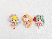 Clay Charm Embellishment - New Valentine Girl - Crafty Mood