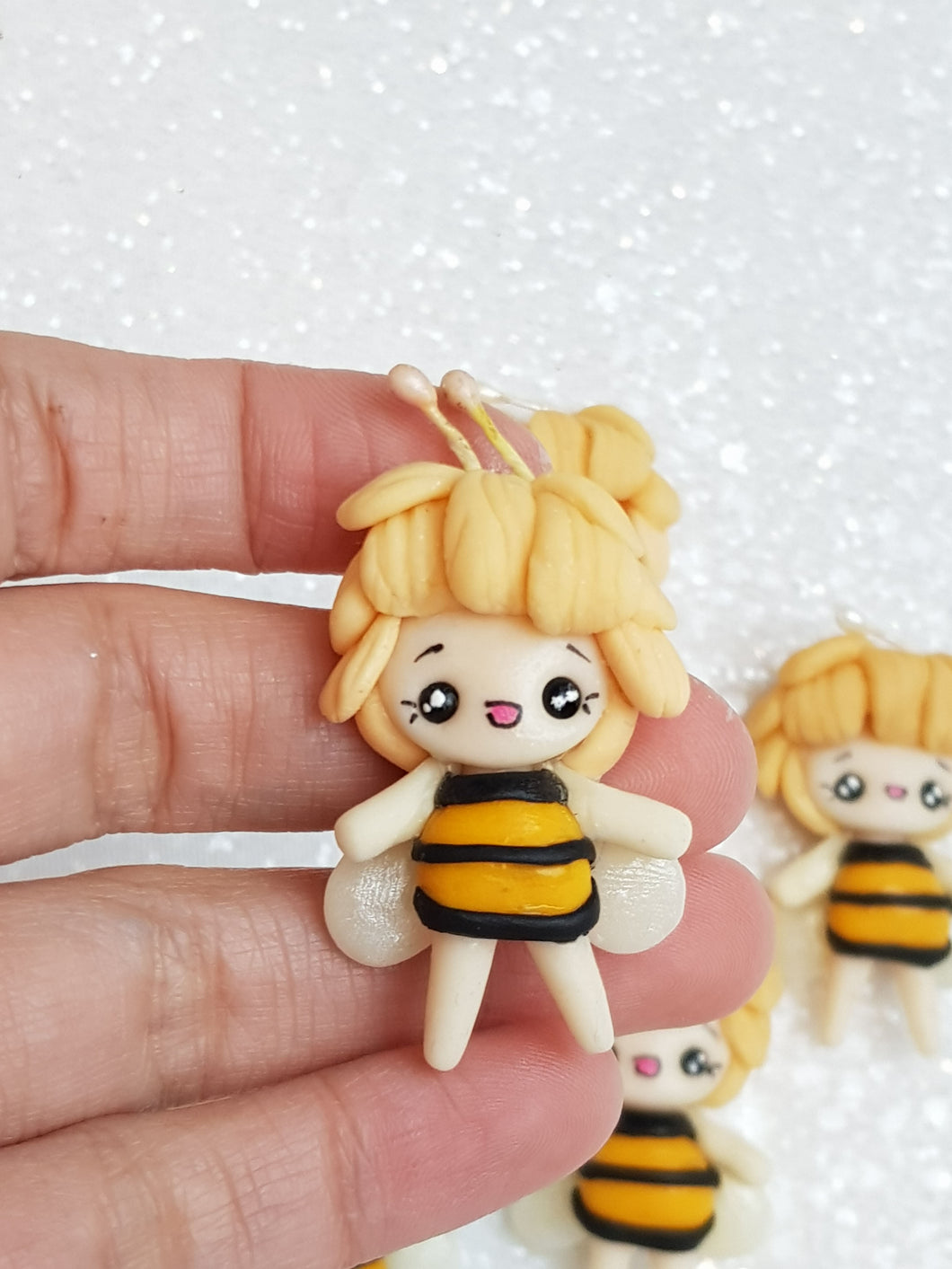 Clay Charm Embellishment - Bee Girl - Crafty Mood
