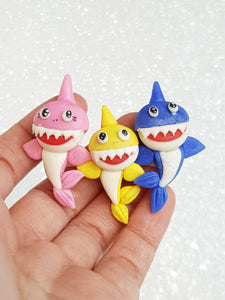 Clay Charm Embellishment - SHARK