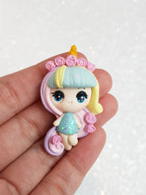 Load image into Gallery viewer, Clay Charm Embellishment - Rainbow Girl Big Eyes - Crafty Mood