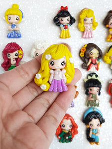 Sale Clay Charm Embellishment - New Mini Luxe Princess - Crafty Mood