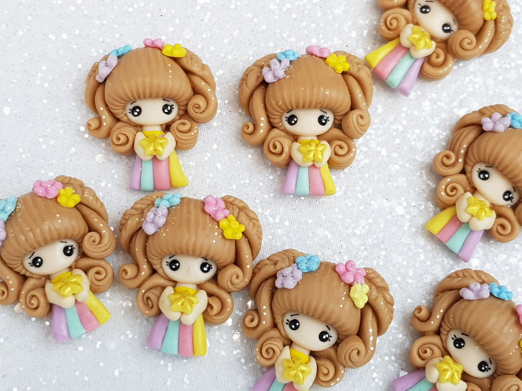 Clay Charm Embellishment - New Rainbow Girl A - Crafty Mood