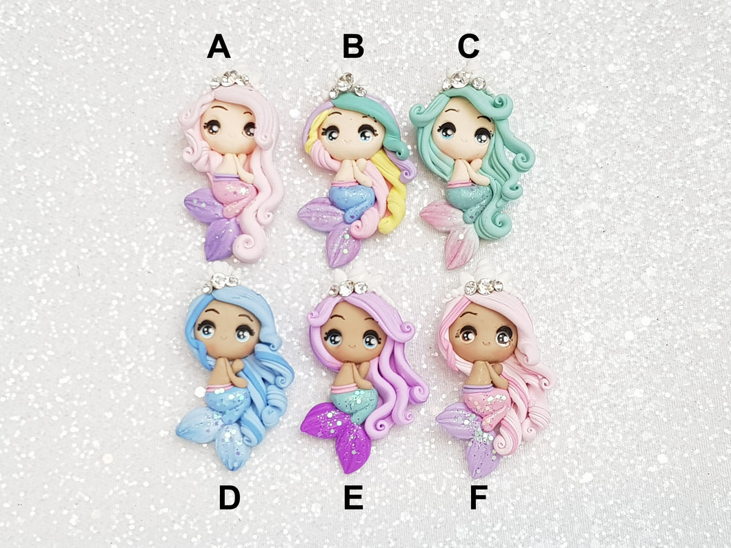 Clay Charm Embellishment - Mermaid BIG EYES - Crafty Mood