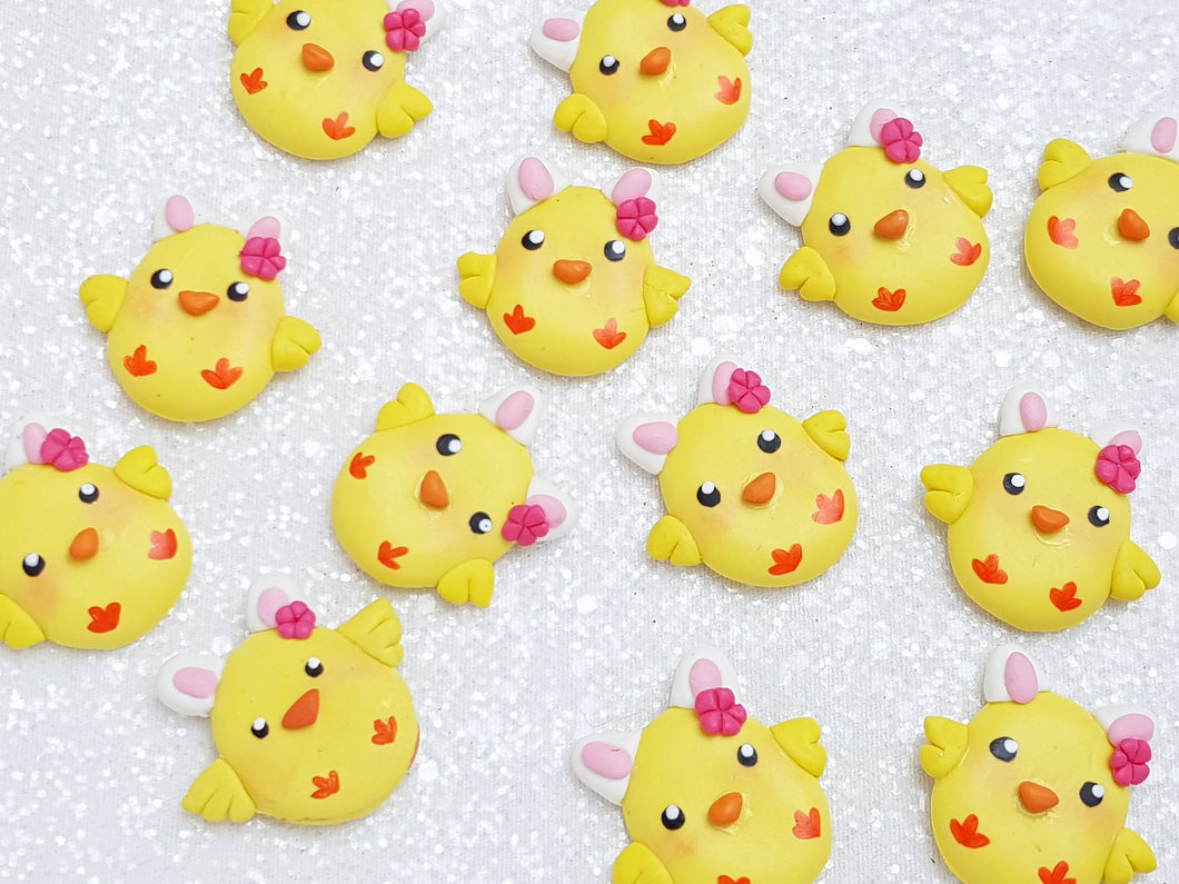 Clay Charm Embellishment - New Chick - Crafty Mood