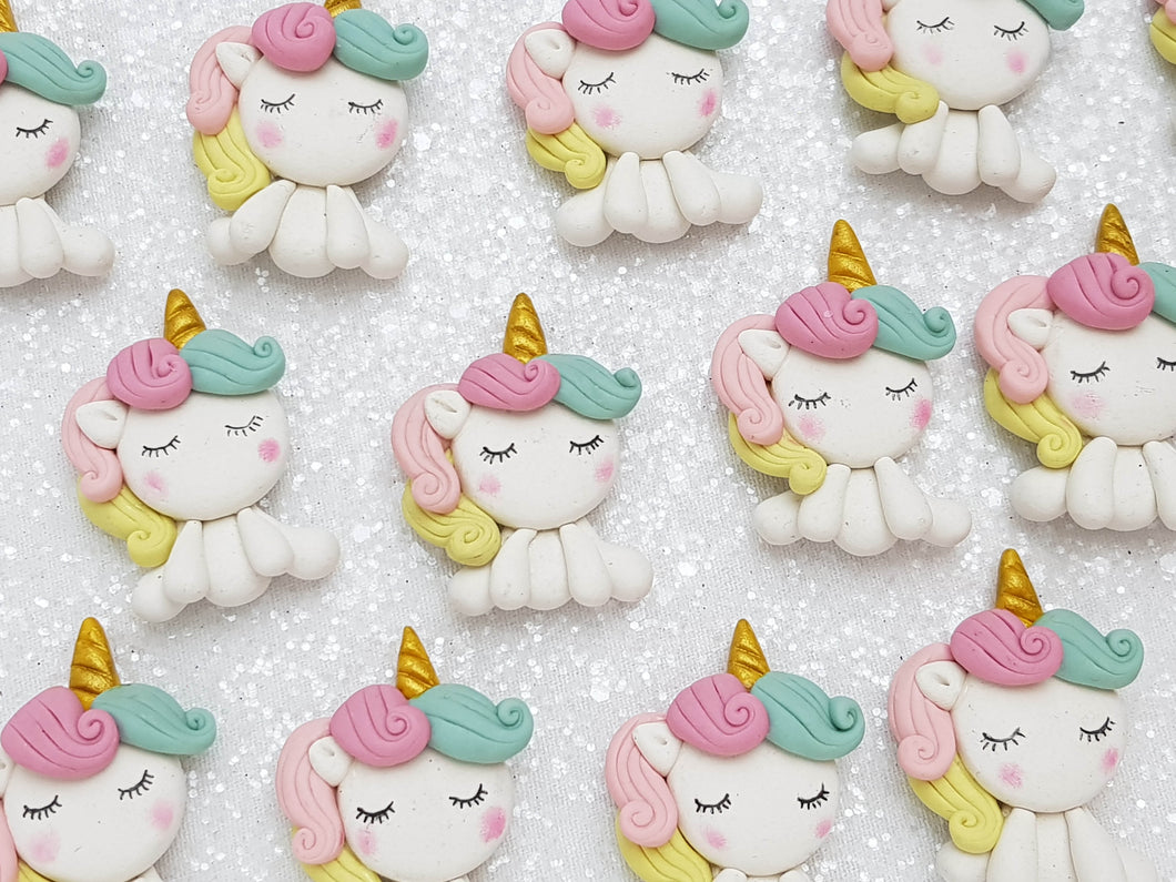 Clay Charm Embellishment - UNICORN FULL BODY
