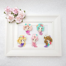 Load image into Gallery viewer, Clay Charm Embellishment - Small Mint Pink Mermaid - Crafty Mood