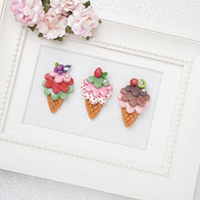 Load image into Gallery viewer, Clay Charm Embellishment - Ice Cream - Crafty Mood