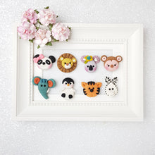 Load image into Gallery viewer, Clay Charm Embellishment - NEW LETS GOING TO THE ZOO - Crafty Mood