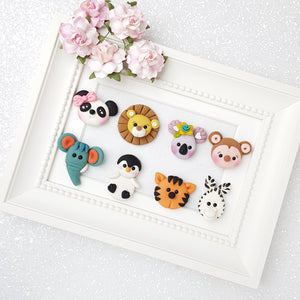 Clay Charm Embellishment - NEW LETS GOING TO THE ZOO - Crafty Mood