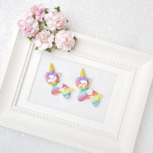 Load image into Gallery viewer, Clay Charm Embellishment - Rainbow Llama Delight - Crafty Mood