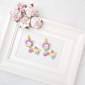 Clay Charm Embellishment - Rainbow Llama Delight - Crafty Mood