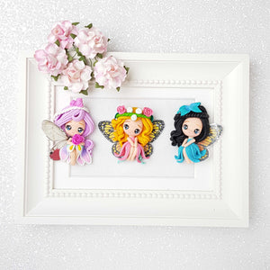 Clay Charm Embellishment - Garden butterfly Fairies limited - Crafty Mood