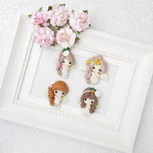 Clay Charm Embellishment -  Angels kawaii - Crafty Mood