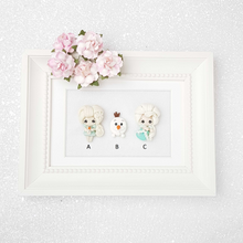 Load image into Gallery viewer, Clay Charm Embellishment - Winter Princess A - Crafty Mood
