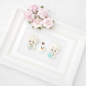 Clay Charm Embellishment - Winter Princess A - Crafty Mood