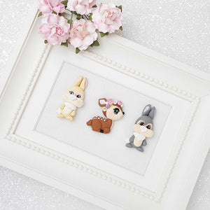 Clay Charm Embellishment - woodland Friends - Crafty Mood