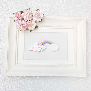 Clay Charm Embellishment - Happy Cloud and Rainbow - Crafty Mood