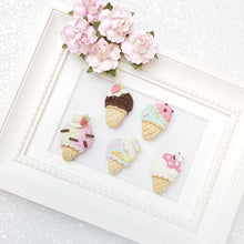 Load image into Gallery viewer, Clay Charm Embellishment - Ice Cream Cone - Crafty Mood