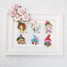 Load image into Gallery viewer, Clay Charm Embellishment - Fairy and House A - Crafty Mood