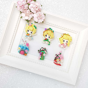 Clay Charm Embellishment - Fairy and House B - Crafty Mood