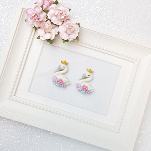 Clay Charm Embellishment - NEW SWAN - Crafty Mood